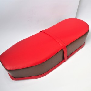Seat, leatherette, red-brown, Jawa, CZ