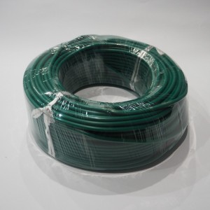 High voltage cable to spark plug, green, plastic, 1m, Jawa, CZ