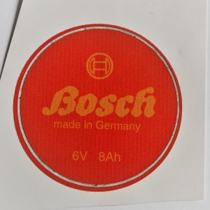 Sticker BOSH, diameter 53 mm, Jawa, CZ