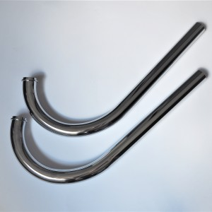 Exhaust pipes long for fish, chrome, Jawa 350 typ 354 Kyvacka