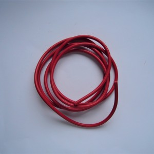 High voltage cable to spark plug, red, plastic, 1m, Jawa, CZ