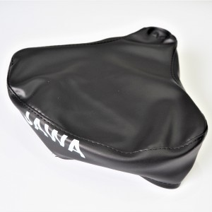 Seat cover, black, with Jawa logo, artificial leather, Jawa Babetta 207