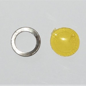 Neutral gear indicator, yellow plastic, Jawa Perak, Kyvacka, OHC