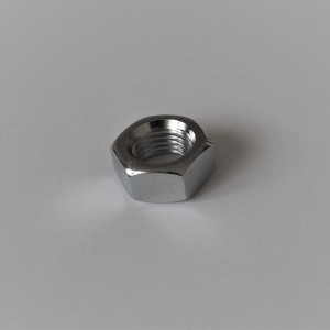 Nut for wheel shaft M14x1,5mm, chrome, Jawa, CZ