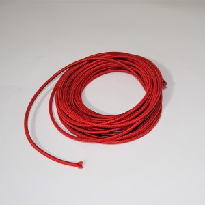 Electric cable with braid 4mm, red, 1m, Jawa, CZ