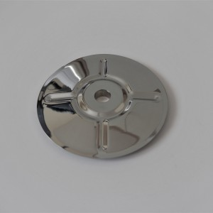 Rear sprocket carrier cover 163 mm, chrome, Jawa, CZ 125/175/250